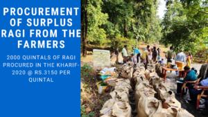 Procurement of Surplus Ragi from farmers